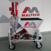 The Maltech M5-eco mixes and pumps most factory blended dry premixed one coat plaster and external renders, can be filled with bags or from a silo