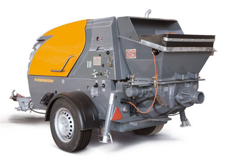 A range of Shotcrete machines are available which control the complete process of wet spray concrete